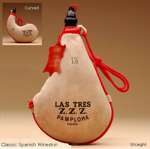 Classic Spanish Wineskin
